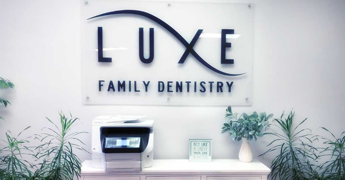 Luxe Family Dental front desk picture your dentist in lauderhill, FL